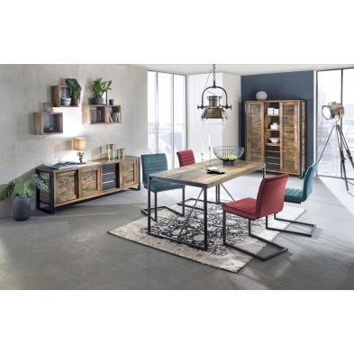 Composition salle à manger complète style vintage coloris variés collection Lauzier