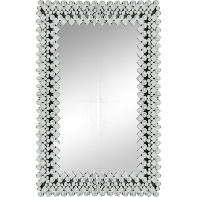 Miroir argenté design effet 3D 80 cm x 120 cm collection Umke