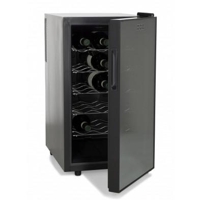 Mini-réfrigérateur à vin gris design L. 47 x P. 60 x H. 73 cmcollection Pedredo