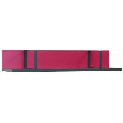 Meuble étagère rose design en bois mdf L. 130 x P. 23 x H. 32 cm collection Mainwaring