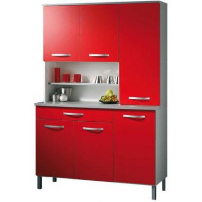 Buffet & vaisselier moderne rouge en panneaux de particules mélaminés de haute qualité  L. 101 x P. 42 x H. 184 cm Collection Kerkdriel