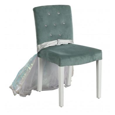 Chaise enfant Bleu Design en Bois mdf 71 cm de largeur collection Franke