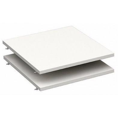 étagère design blanc en panneaux de particules mélaminés de haute qualité L. 46 x P. 50 x H. 1 cm Collection Haidmuhle