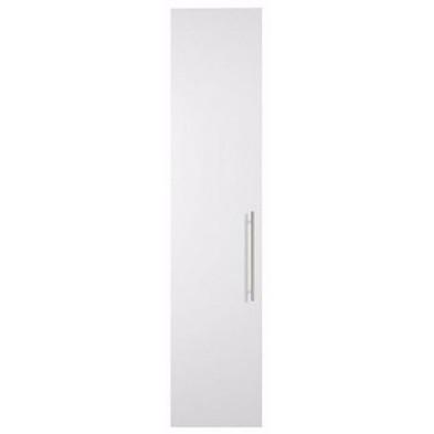 Porte moderne blanc en panneaux de particules mélaminés de haute qualité L. 49 x P. 1 x H. 228 cm Collection Alegia