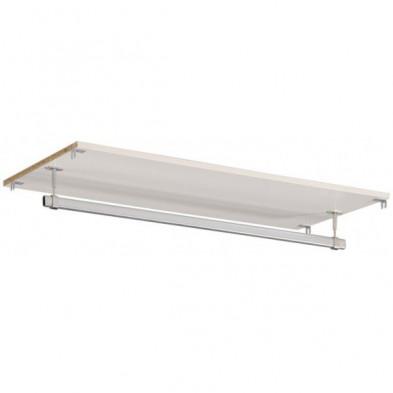 Accessoire moderne blanc en bois mdf L. 90 x P. 40 x H. 2 cm collection Limp
