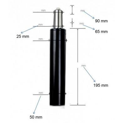 Vérin à gaz noir design en acier L. 5 x H. 35 cm collection Southwonston