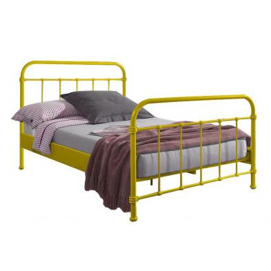 Lit metal jaune design en acier L. 208 x P. 128 x H. 111 cm collection Weijts