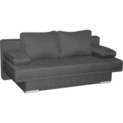 Canapé lit gris design en bois mdf 2 places  L. 198 x P. 92 x H. 77 cm  collection Leirinhas