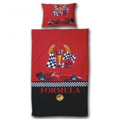 Housse de couette enfants rouge design en coton collection Vestea