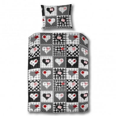 Housse de couette enfants blanc design en coton collection Vestea