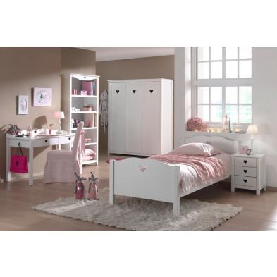 Packs chambre enfant blanc romantique en bois mdf collection Herveld