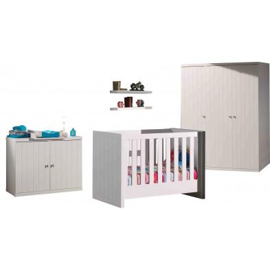 Packs chambre bébé blanc design en bois mdf collection Size