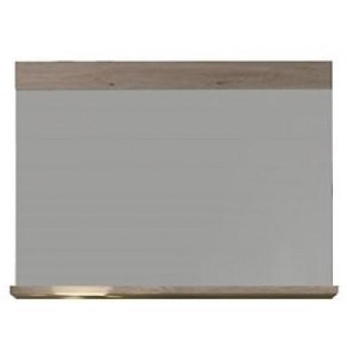 Miroir mural rectangulaire  coloris chêne San Remo L. 90 x P. 15 x H. 68 cm collection Quain