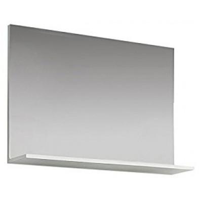 Miroir mural design  coloris blanc brillant L. 91 x P. 14 x H. 60 cm collection Wardin