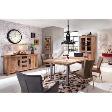Composition salle à manger complète style vintage coloris variés collection Seewald