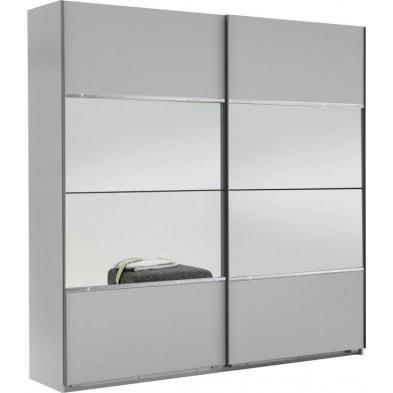 Armoire porte coulissante blanc design L. 180 x P. 65 x H. 210 cm collection Cefnypant