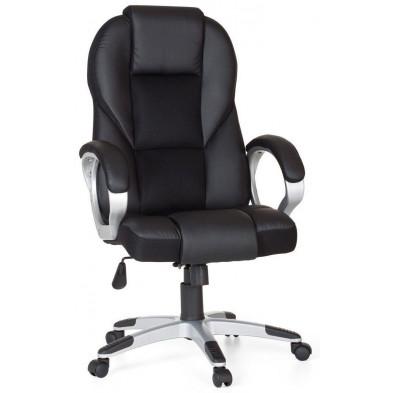 Chaise de bureau Noir Design en Aluminium 63 cm de largeur L. 63 x P. 57 x H. 111-119 cm collection Decide