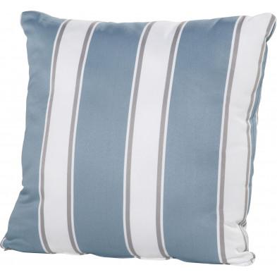 Coussin de jardin en textilène coloris bleu et blanc L. 50 x H. 50 cm collection Kalmthout