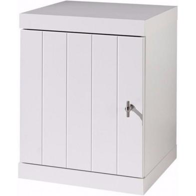 Chevet enfant blanc design en bois mdf L. 44 x P. 40 x H. 55 cm collection Size