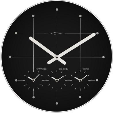 Horloge murale noir moderne en verre collection Vandehaterd