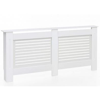 Couvercle de radiateur blanc contemporain en bois mdf L. 172 x P. 19 x H. 82 cm collection Lowgill