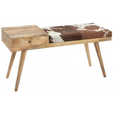 Bancs & banquettes de salle à manger marron vintage en bois massif manguier collection Sef