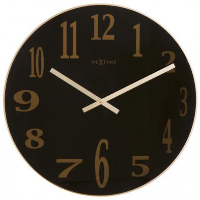 Horloge murale noir en verre collection Tukwila