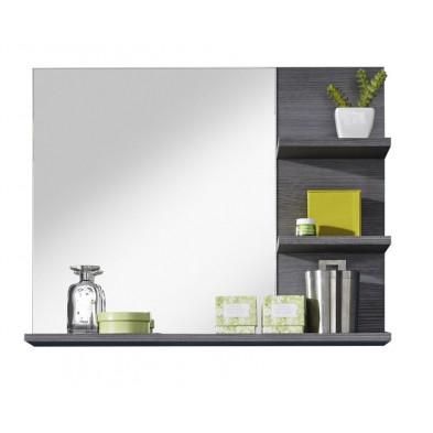Miroir de salle de bain avec 3 tablettes coloris gris anthracite  L. 72 x P. 17 x H. 57 cm collection Aberfan