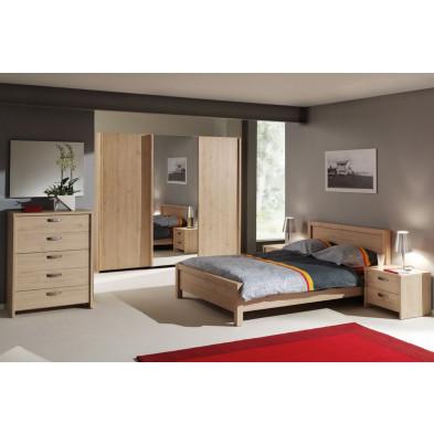 Chambre adulte complète marron scandinave collection Yosra