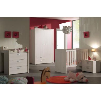 Chambre bébé complète beige contemporain en panneaux  de particule mélaminés de qualité collection Ashriss