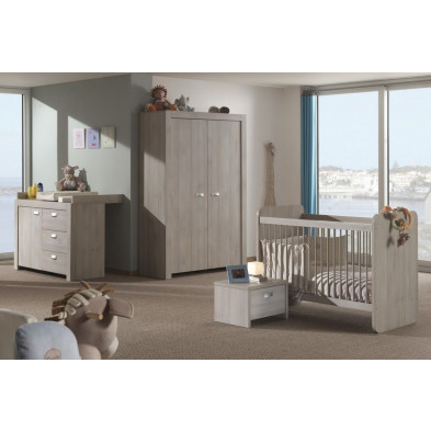 Chambre bébé complète marron contemporain en collection Spennymoor