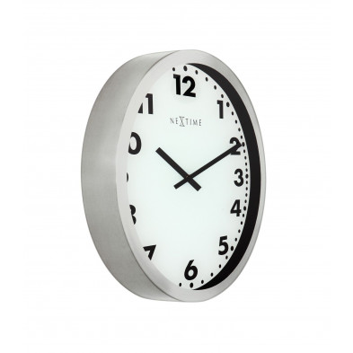 Horloge à poser blanc en  verre collection Marijniben