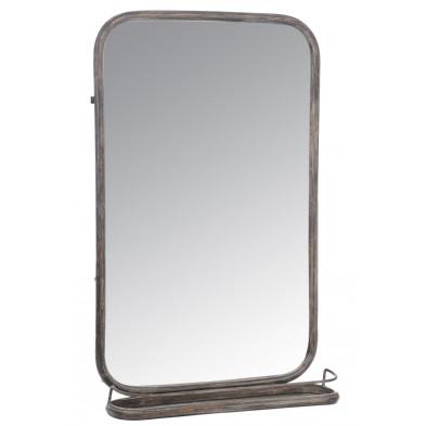 Miroir rectangle en métal avec étagère en collection Bumpy