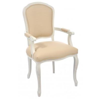Chaise baroque Blanc en Bois massif 60 cm de largeur collection Enthoni