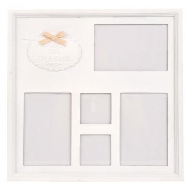 Cadre photos blanc en bois massif collection Oeselgem