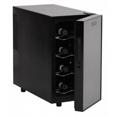 Mini-réfrigérateur à vin gris design L. 27 x P. 53 x H. 41 cm collection Pedredo