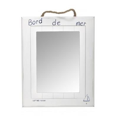 Miroir blanc classique en bois massif collection Benifallim