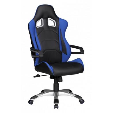 Chaise et fauteuil de bureau bleu design en pvc L. 52 x P. 50 x H. 120 - 130 cm collection Haakma