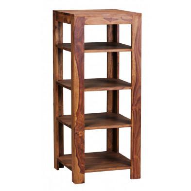 Bibliothèque marron contemporain en bois massif L. 44 x P. 44 x H. 105 cm collection Aller