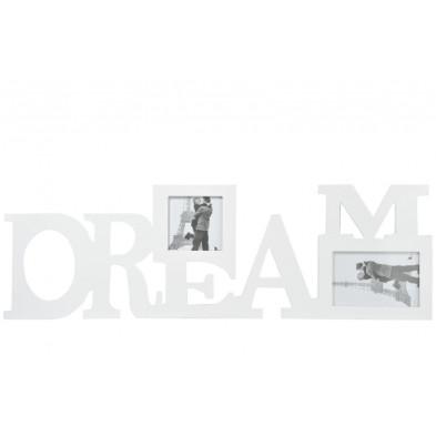 Cadre photos blanc en bois massif collection Presgaux