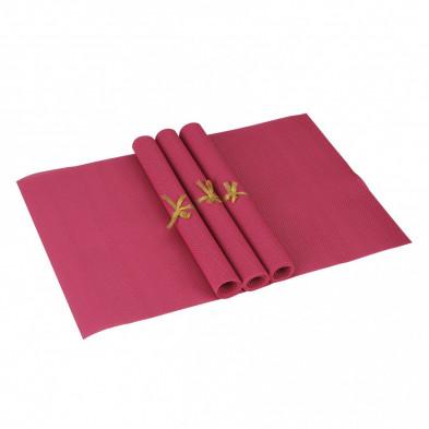Lot de 4 Textile de table et de cuisine rose moderne en pvc L. 45 x P. 30 cm collection Traffordpark