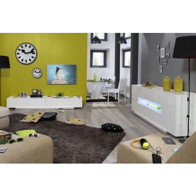 Salle à manger complète blanc design en collection Giddy