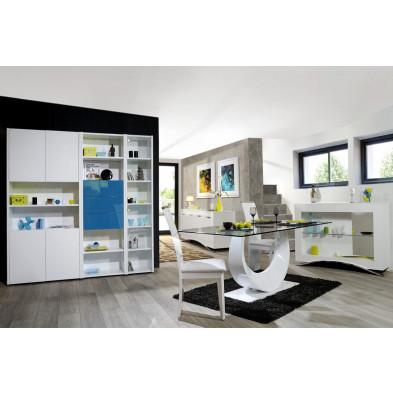 Salle à manger complète blanc design en collection Vandenboom