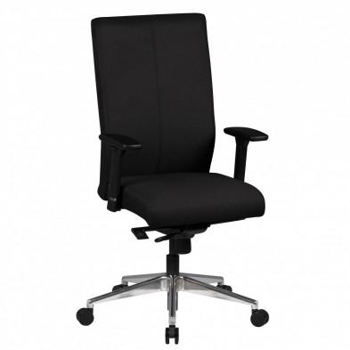 Chaise et fauteuil de bureau noir design en tissu L. 60 x P. 60 x H. 108 - 120 cm collection Chadwick