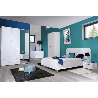 Chambre adulte complète argenté moderne en collection Gigliola