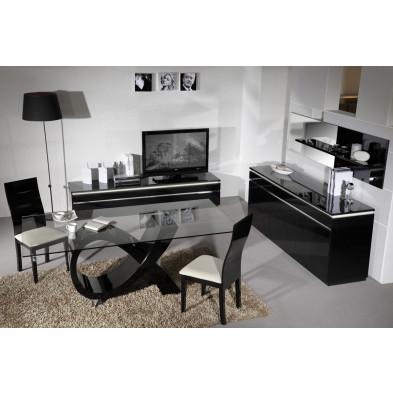 Salle à manger complète noir design en collection Bosavern