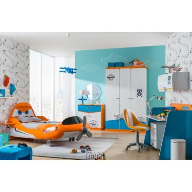 Chambre enfant complète blanc design en collection Luneburg