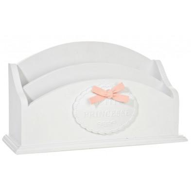 Boîte - panier blanc design en bois massif 9 x 15 cm collection Murky
