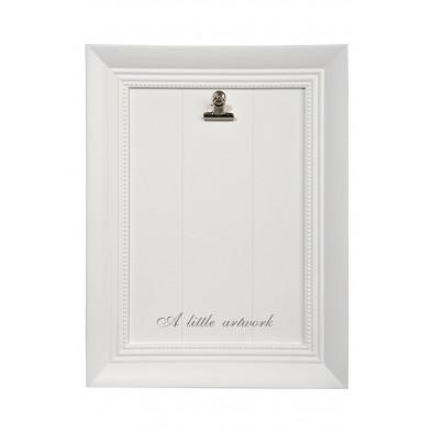 Toiles et tableaux blanc en bois massif 32 x 42 cm collection Helmers