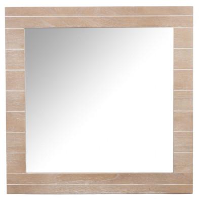 Miroir marron en bois massif 72 x 72 cm collection Drunk